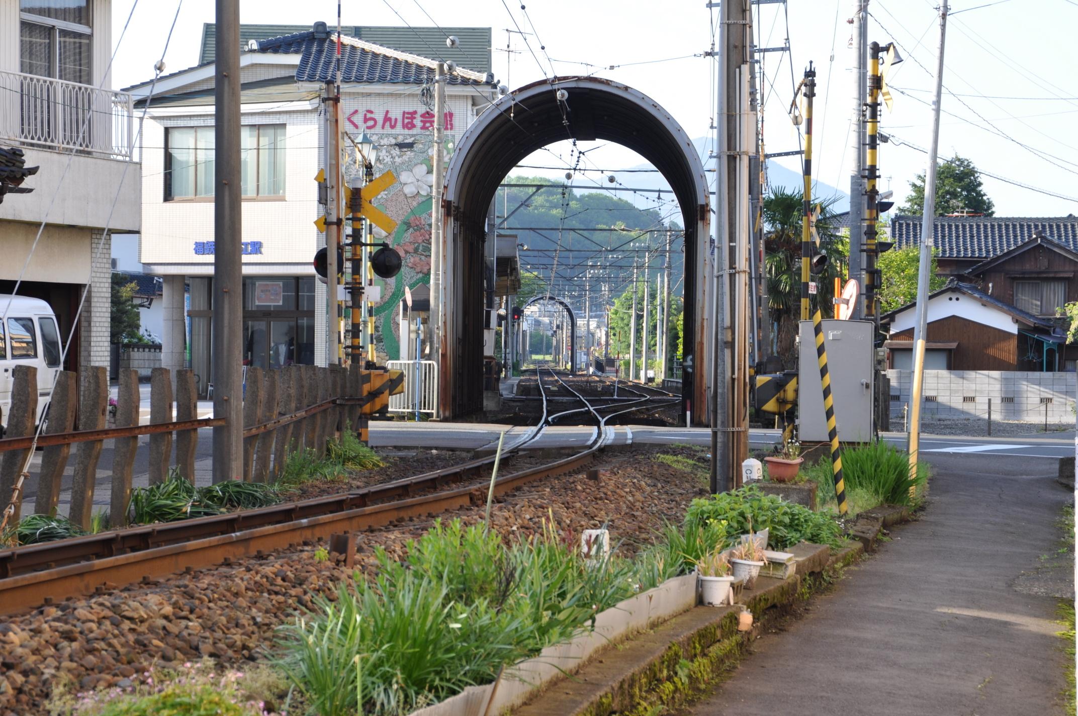 福武線の線路