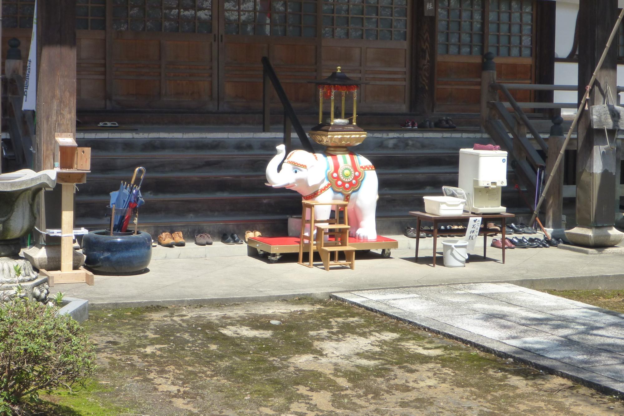 花祭り白象